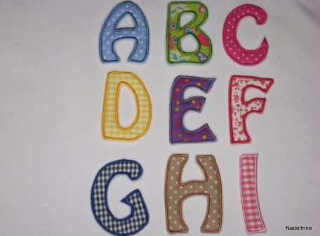 Buchstabenapplikationen