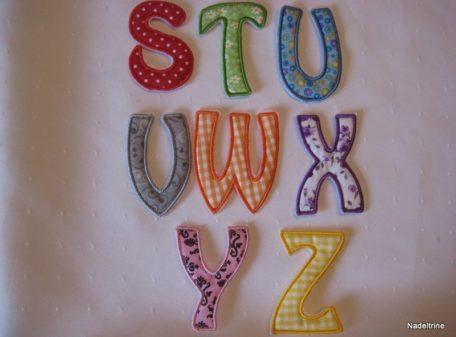 Buchstabenapplikationen S-Z