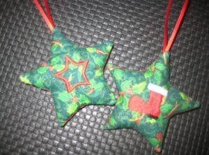 Weihnachtssterne mit Stiefel und Stern