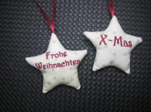 Weihnachtssterne mit Text