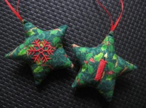 Sterne ITH (in the hoop) für 10×10 cm Rahmengröße Kerze, Schneeflocke