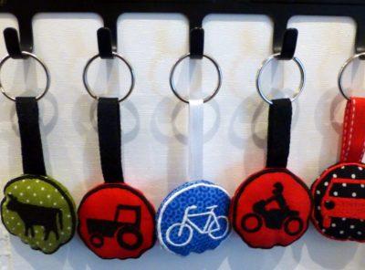 Stickdatei Verkehrszeichen ITH Schlüsselanhänger