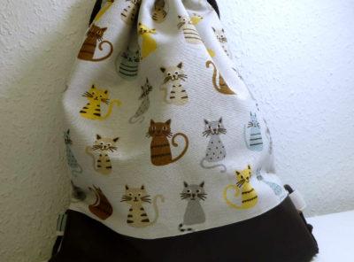 Rucksackbeutel Katzen