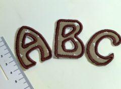 Stickdatei Mini-Buchstabenapplikationen 4,5cm hoch