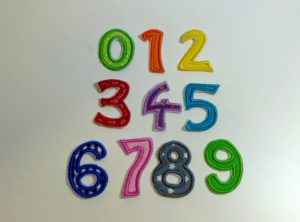 Stickdatei Zahlenapplikationen Maxi-Zahlen 14cm hoch