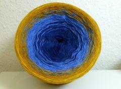 Farbverlaufsgarn Blau-Gelb (1000m)