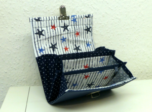 Geldbörse – Portemonnaie – Seesterne Kunstleder