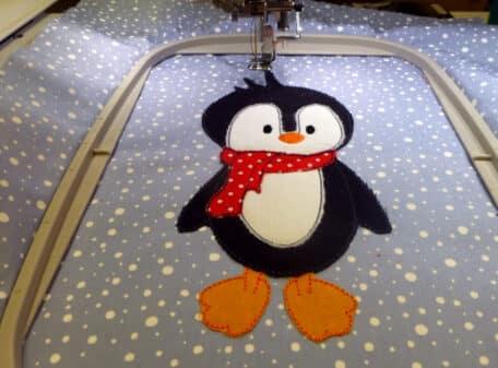 Pinguin-stehend