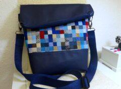"Handtasche ""blue squares"""