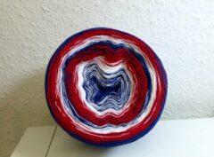 Farbverlaufsgarn Maritim blau-rot-weiß 750 m